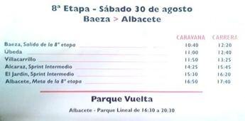 La Vuelta Ciclista a España 2014 llega a Albacete este sábado día 30 de agosto (horarios de la etapa)