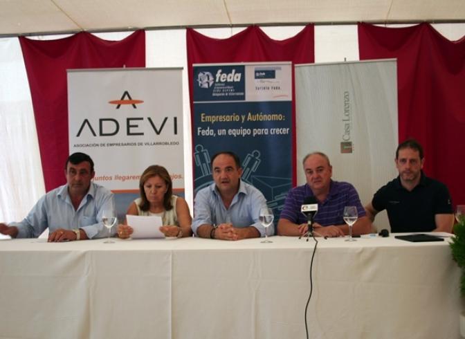 Las asociaciones de empresarios presentan su caseta ferial en Villarrobledo