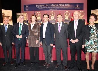 Albacete fue sede del sorteo de Lotería Nacional, a favor de la asocación contra el cáncer