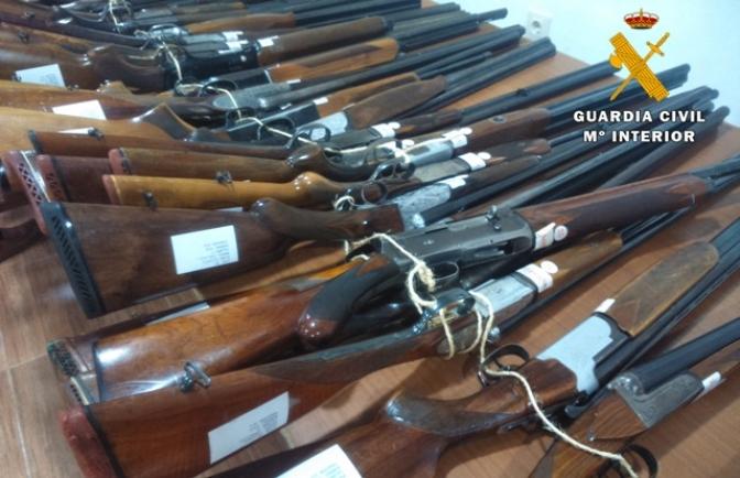 La Guardia Civil de Albacete subastará 418 armas de fuego el próximo 10 de junio