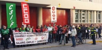 Convocadas movilizaciones en Correos con acciones de protesta y varias jornadas de Huelga General en todo el Estado