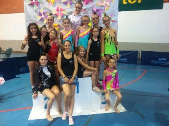 Éxito de participación de los clubes de Albacete en el XIXC Campeonato de gimnasia rítmica de Castilla-La Mancha
