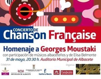 Homenaje a Georges Moustaki y a la Canción Francesa el 31 de mayo en el Auditorio Municipal de Albacete