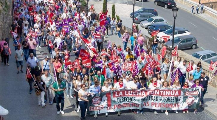 12.000 personas se manifiestan el 1 de Mayo en Castilla-La Mancha
