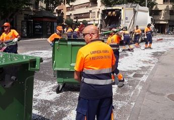 El Ayuntamiento de Albacete inicia una campaña de limpieza de manchas en aceras y calles peatonales