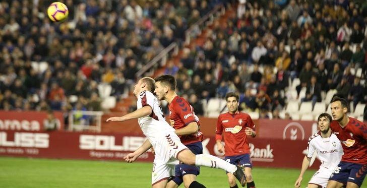 El Albacete Balompié quiere dar otro paso para el ascenso ante Osasuna