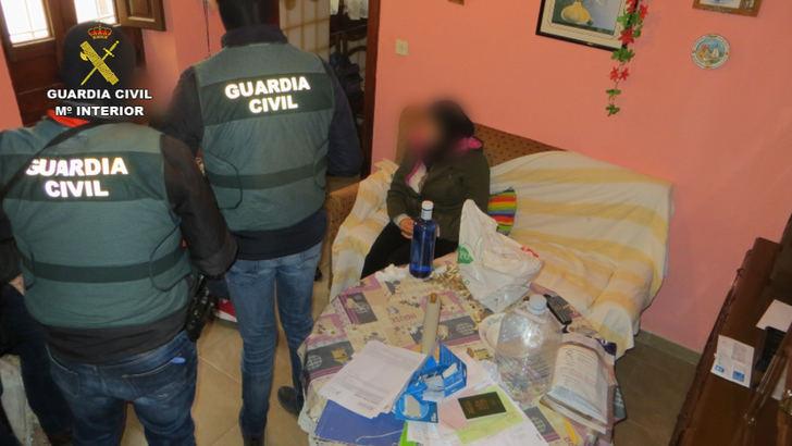 Imágenes de la operación de la Guardia Civil en Hellin