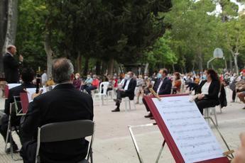 350 albaceteños acudieron al primer concierto de la Banda Sinfónica tras el confinamiento