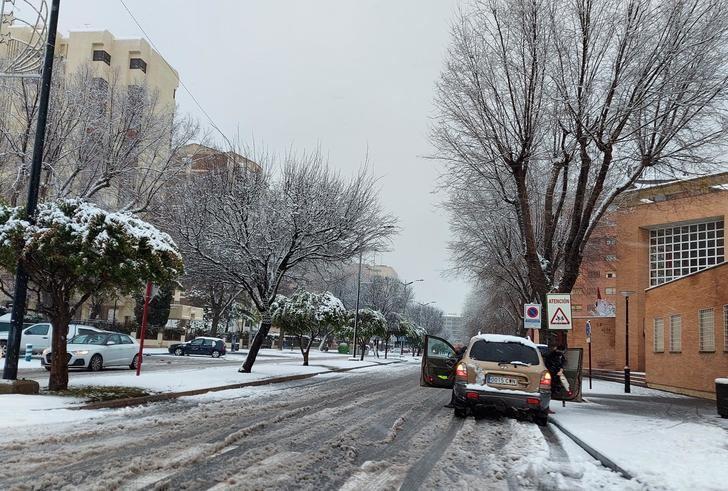 Nieve en Albacete capital