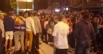 Los madridistas de Albacete celebraron el triunfo del Real Madrid en la final de la Champions
