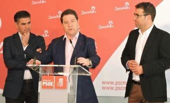 Page, acompañado de Belinchón y González Ramos, habló de empleo, no al fracking y ATC en Albacete