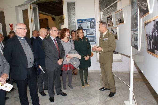 """Inaugurada la exposición """"Cien años de Aviación Naval"""" (1917- 2017), en el Casino primitivo de Albacete"""