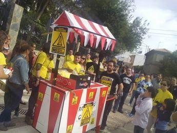 Manifestación en El Bonillo contra la localidad de El Bonillo contra el fracking