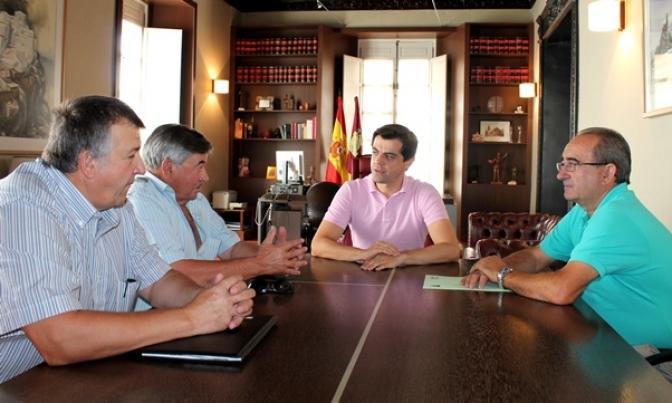 Reunión de la directiva de Asaja Albacete con Javier Cuenca, delegado de la Junta