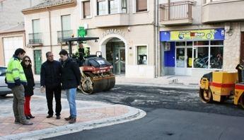 Esta semana finalizan las obras en calle Cervantes de La Roda