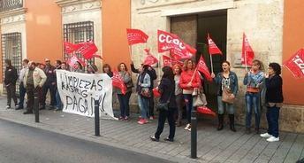 Las trabajadoras de la limpieza de la residencia del Paseo de la Cuba seguirán de huelga hasta que les paguen sus nóminas