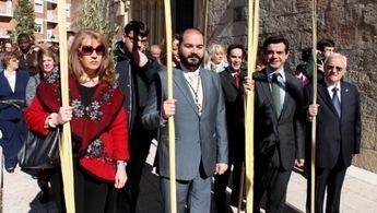 Procesión de la bendición de las Palmas en Albacete en un Domingo de Ramos de buena temperatura