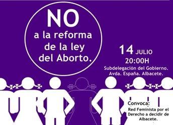 Juventudes Socialistas de Albacete anima a participar en la cadena humana que convoca la 'Red Feminista Por el Derecho a Decidir'
