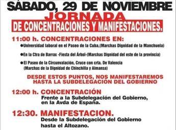 IU hace un llamamiento para que Albacete  participe en la manifestación de las 'Marchas por la Dignidad'
