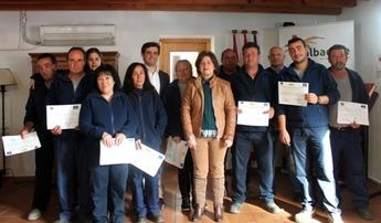 Clausurado el taller de empleo 'Monte Regalí' de Letur