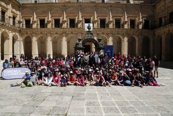La concejal de Educación acompaña a los niños del Colegio Virgen de los Llanos de Albacete en una de las actividades de inmersión lingüística