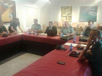 El delegado del Gobierno en CLM, Jesús Labrador ha presidido la reunión con los mandos de la Guardia Civil de CLM