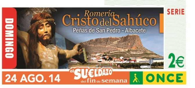 La ONCE dedica un cupón a la Romería del Cristo del Sahuco, de Peñas de San Pedro
