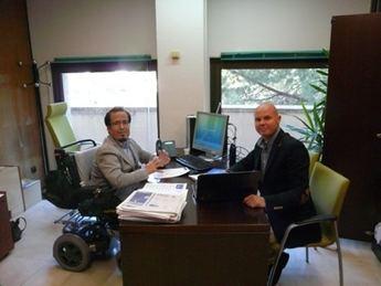 Reunión de Federico Pozuelo con el representante de 'Acción Psoriasis'