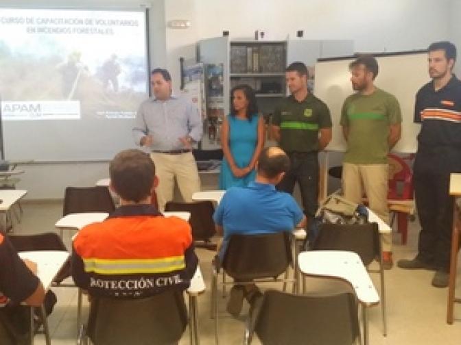 Comienza el Curso de capacitación de voluntarios en incendios forestales en Almansa