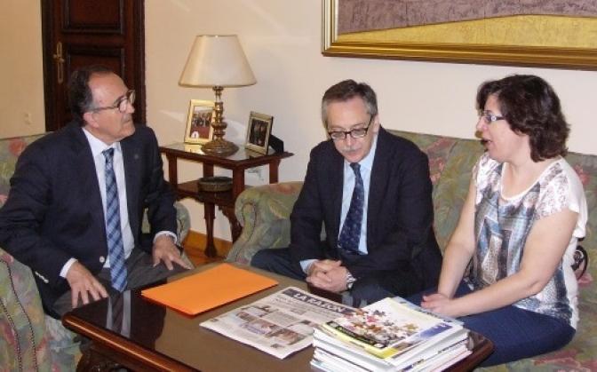 Sánchez Moreno, director de la ONCE en Albacete, se reúne con el subdelegado del Gobierno