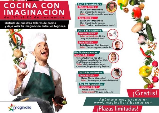 El Centro de Ocio y Comercio Imaginalia organiza la primera edición de 'Cocina con imaginación'