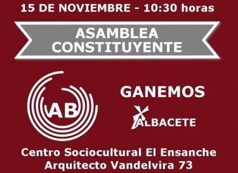 Ganemos Albacete se prepara para su asamblea constituyente el sábado 15 de Noviembre