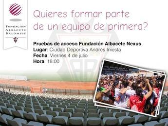 El Fundación Albacete hará pruebas para su equipo el próximo día 4 de julio
