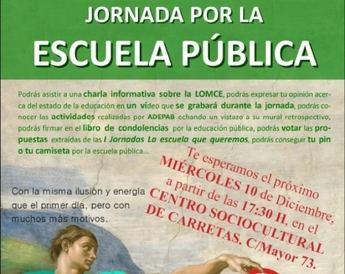 Jornada reinvidicativa por la enseñanza pública, en el centro Sociocultural Carretas de Albacete