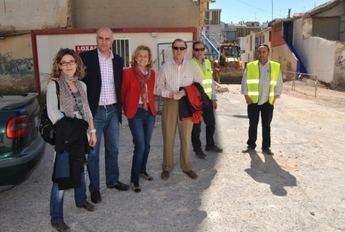 Carmen Bayod visita las obras de remodelación del Pasaje Posada del Rincón