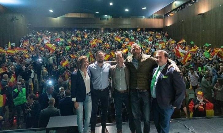 Imagen del acto de Abascal en Albacete.