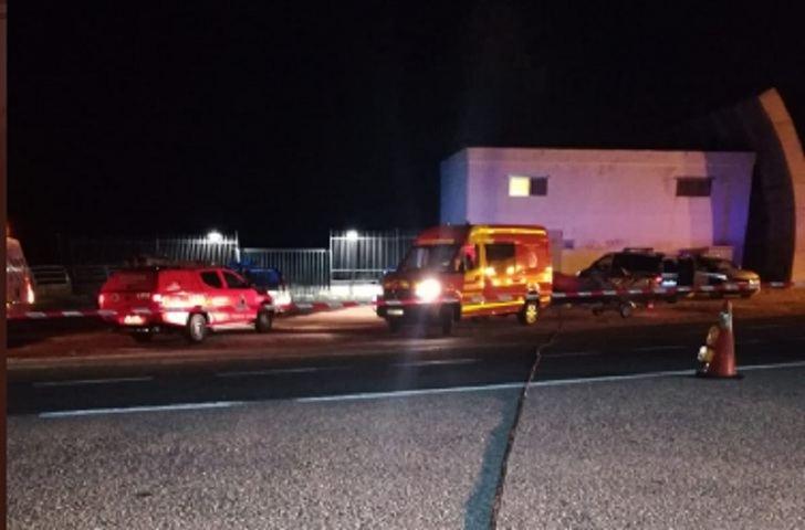 Imágenes del accidente en la noche del miércoles.