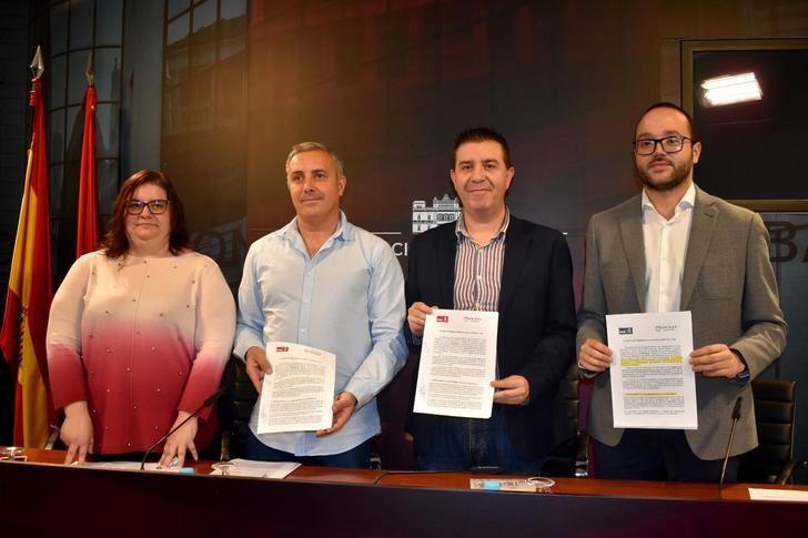 Cabañero detalla el acuerdo entre PSOE y UP-IU para la aprobación de los Presupuestos 2020 de la Diputación