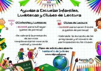 La Diputación de Albacete destina 105.000 euros para proyectos educativos vinculados con la Educación Infantil y la lectura