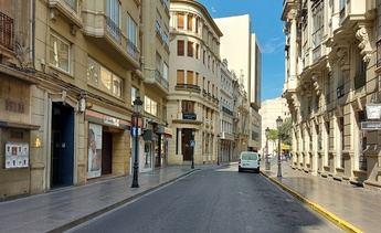 Así estaba la calle Ancha de Albacete esta tarde. Antes de la decisión del Gobierno de limitar la circulación.