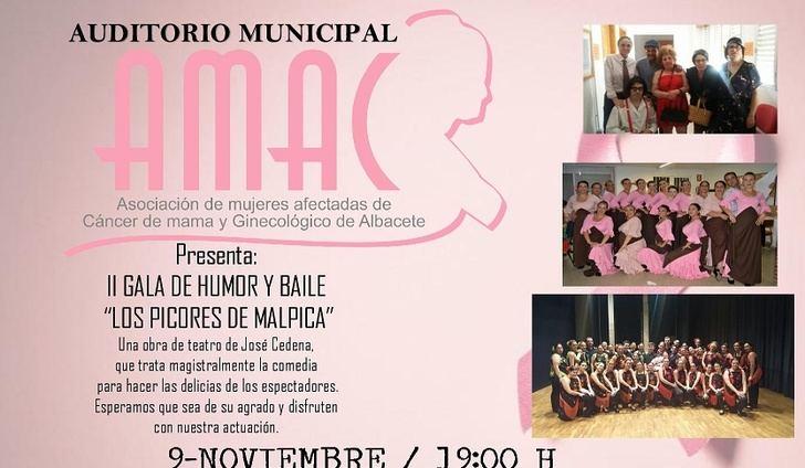 El auditorio municipal acoge la II gala de Humor y Baile a beneficio de AMAC