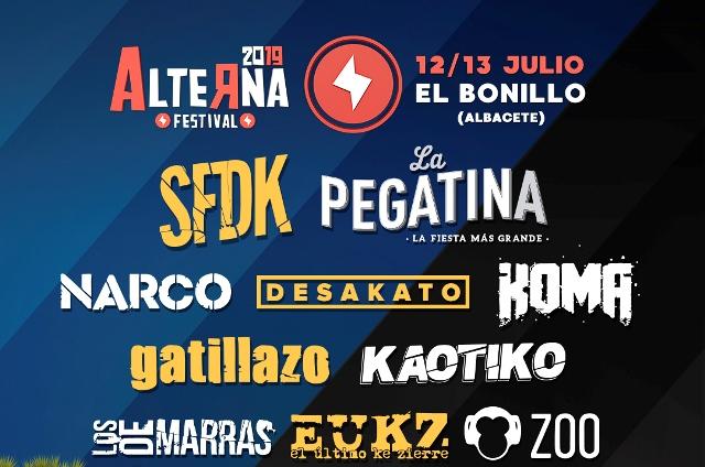 XVI edición del 'Alterna Festival' en El Bonillo que se celebrará el 12 y 13 de julio