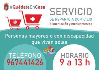El Ayuntamiento de La Roda activa un servicio domiciliario de reparto de alimentación y medicamentos