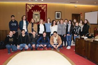 El Ayuntamiento de Albacete recibe a alumnos de intercambio de Alemania con el IES Tomás Navarro Tomás