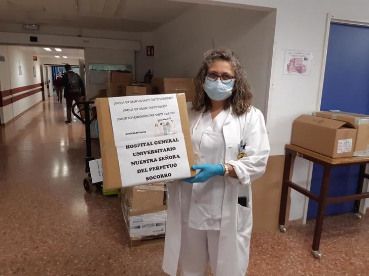 Nerpio dona material sanitario a hospitales y residencias de mayores de Albacete y Hellín