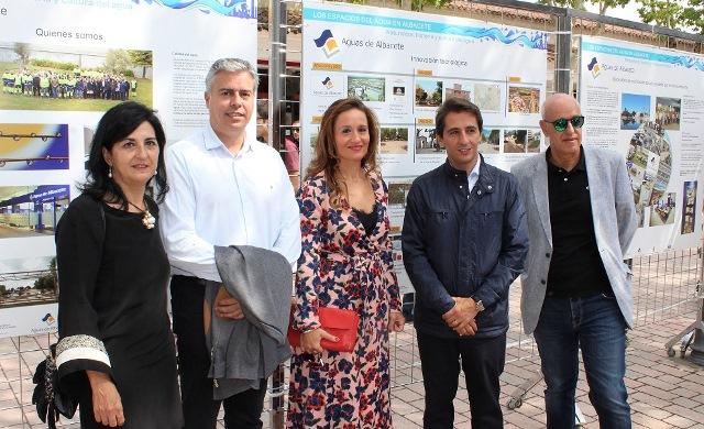 Abierta la exposición 'Los espacios del agua en Albacete', en el stand de los 'vecinos' en la Feria de Albacete