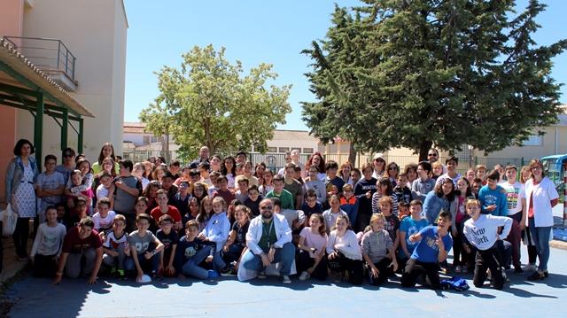 La Gerencia Integrada de Villarrobledo celebra el proyecto 'VillaSalud 2018' entre más de 200 escolares de San Clemente