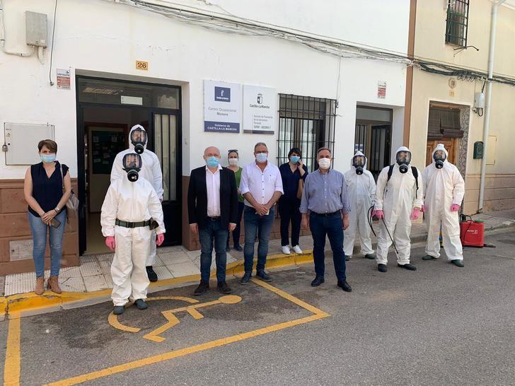 El GEACAM concluye la desinfección de 12 centros ocupacionales en la provincia de Albacete