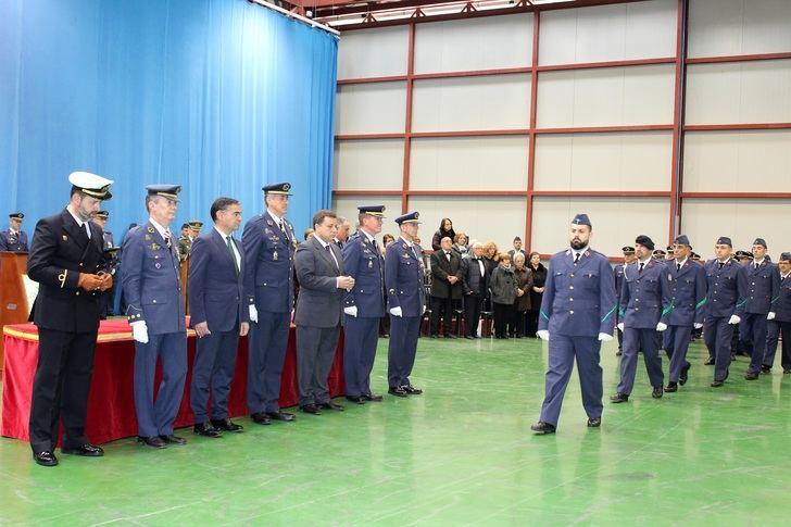 La Base Aérea de los Llanos y Maestranza realizan un desfile con motivo de Nuestra Señora la Virgen de Loreto