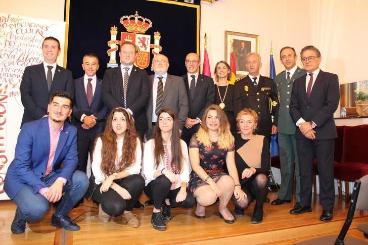 Acto institucional en Albacete para celebrar 41 años de Constitución